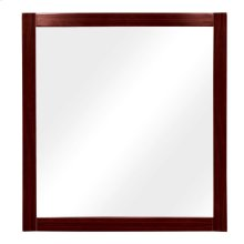 Lola Rectangular Bathroom Mirror - Dark Walnut