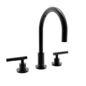 Gloss Black Widespread Lavatory Faucet