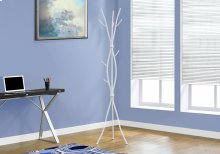 "COAT RACK - 74""H / WHITE METAL"