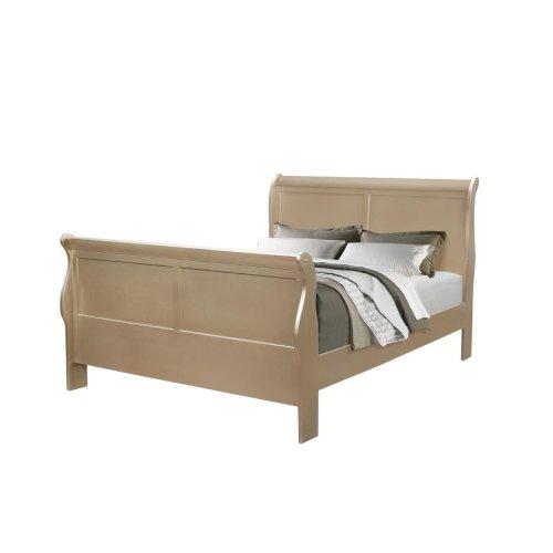 Hershel Louis Philippe Metallic Champagne Queen Bed