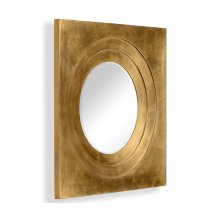 Gilded Framed Round Mirror