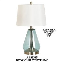 "24""TH GLASS/ METAL TABLE LAMP, 2 PCS PK, 3.46'"