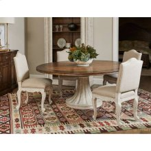 """Thoroughbred 72"""" Round Dining Table - White Gesso"""
