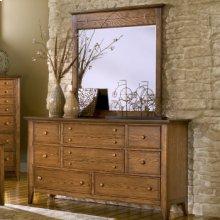 Triple Dresser and Landscape Mirror