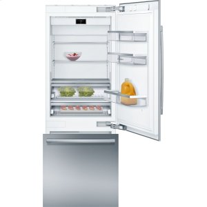 "Bosch BenchmarkBENCHMARK SERIESBenchmark® Benchmark®, 30"" Built-in Two Door Bottom Freezer Refrigerator with Home Connect, B30BB930SS, Stainless Steel Panel"