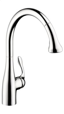 Chrome Semi-Pro Kitchen Faucet, 2-Spray Pull-Down, 1.75 GPM