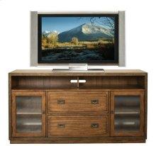 Falls Creek TV Console Chestnut finish