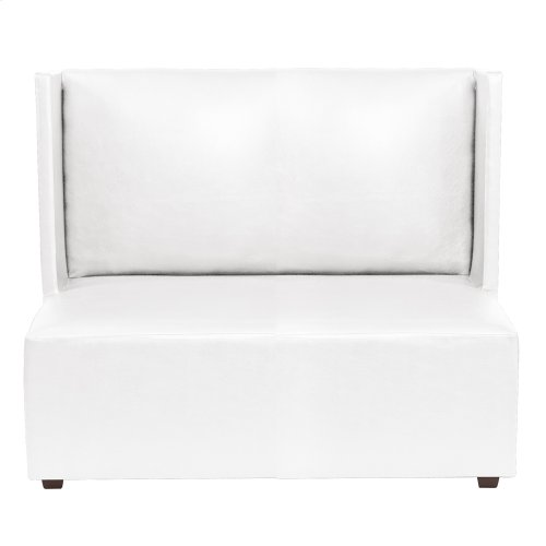 Square Loveseat Atlantis White