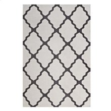 Marja Moroccan Trellis 8x10 Area Rug in Ivory and Charcoal
