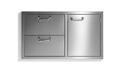 "36"" storage door & double drawer combo - Sedona by Lynx Series"