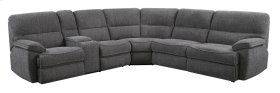 Emerald Home Aurora 3pc Sleeper Sectional Platinum U8050-13-27-46-03-k