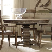 "Sorella Pedestal Dining Table w/1-20"" leaf"
