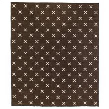 8'x10' Size Dark Brown Cross Rug