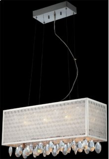 Crystal Ceiling Lamp, C/crystals, Jc/g4 20wx6 & LED 1wx8