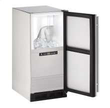 """Outdoor Series 15"""" Outdoor Clear Ice Machine With Stainless Solid Finish and Field Reversible Door Swing (115 Volts / 60 Hz)"""