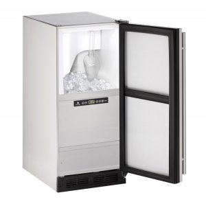 "U-Line Outdoor Series 15"" Outdoor Clear Ice Machine With Stainless Solid Finish And Field Reversible Door Swing (115 Volts / 60 Hz)"