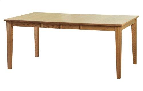"42/48-2-12"" Leaf Regular Tapered Leg Table"
