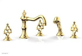 MAISON Deck Tub Set with Hand Shower 164-48 - Polished Gold