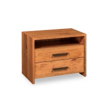 Wildwood Nightstand with Open Cubby, Extra Wide