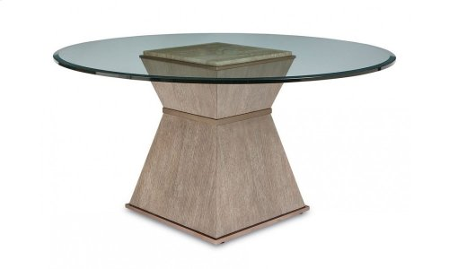 """Cityscapes Hancock Round Dining Table with 54"""" Glass Top"""