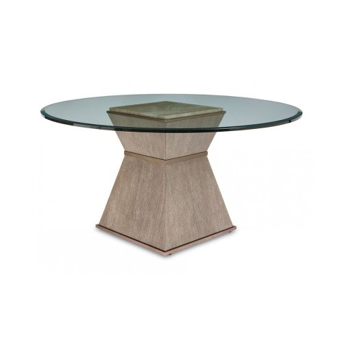"Cityscapes Hancock Round Dining Table with 54"" Glass Top"