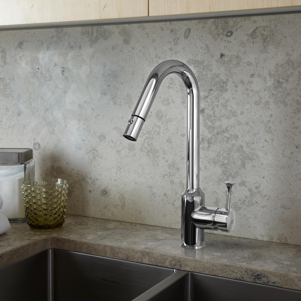 Superbe Pekoe 1 Handle Pull Down High Flow Kitchen Faucet American Standard    Polished Chrome