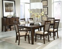 STANDARD 17821-17824-17825 Avion Table 18 Inch Leaf , 4 Side Chairs & 2 Arm Chairs