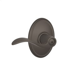 Accent Lever with Wakefield trim Bed & Bath Lock - Oil Rubbed Bronze