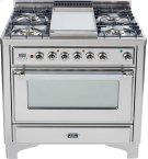 Stainless Steel with Chrome trim - Majestic 36-inch Range with 6-Burner Product Image