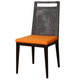 Wilshire Rattan Side Chair, Sky Black (Cushion Sold Separately)