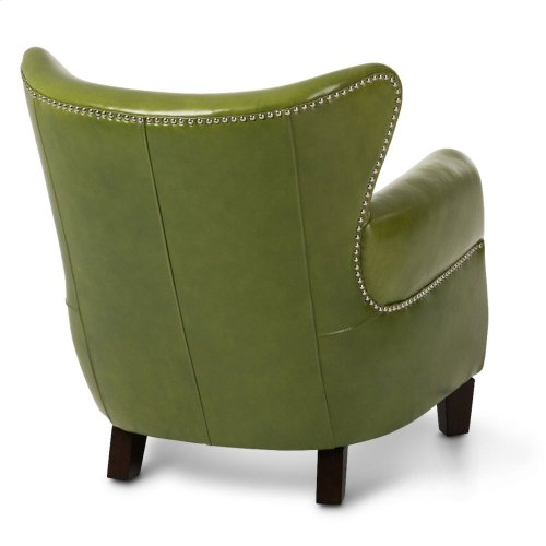 Bladen Leather Accent Chair Pistachio Espresso