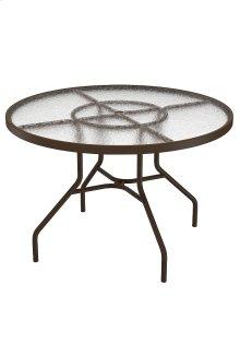 "Acrylic 42"" Round Dining Umbrella Table"