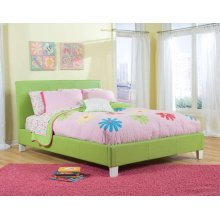 Green Upholstered Footboard W/rails, 4/6