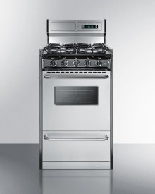 """20"""" Wide Gas Range With Sealed Burners, Stainless Steel Doors, and Deluxe Backguard; Replaces Tnm13027bfkwy"""