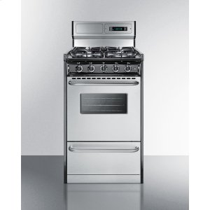 "Summit20"" Wide Gas Range With Sealed Burners, Stainless Steel Doors, and Deluxe Backguard; Replaces Tnm13027bfkwy"