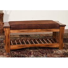 CLOSEOUTS - 2 AVAILABLE! Sedona Bench W/ Cushion Seat