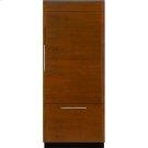 "Integrated Built-In Bottom-Freezer Refrigerator, 36"", Custom Overlay Right Hand Door Swing Product Image"