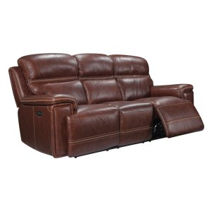 Leather Italia Usa Eh2394 Fresno Pwr Sofa Pwr Hdrst 1004lv Brown