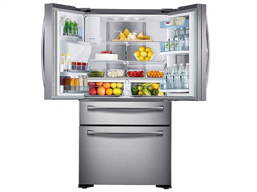 22 cu. ft. Counter Depth 4-Door French Door Food Showcase Refrigerator