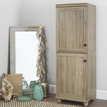 2-Door Narrow Storage Cabinet - Rustic Oak