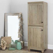 2-Door Narrow Storage Cabinet - Rustic Oak