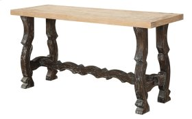 Emerald Home Barcelona Sofa Table Natural Top, Brown Legs T551-2