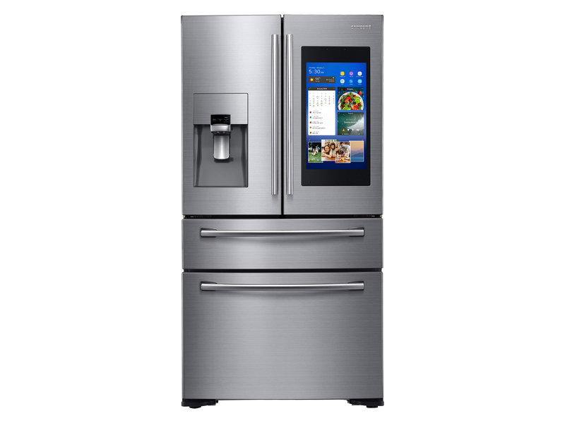 Counter Depth 4 Door French Door With 21.5 In. Connected Touch Screen  Family Hub Refrigerator