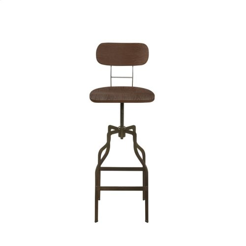 Industrial Light Brown and Bronze Bar Stool