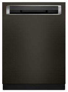 46 DBA Dishwasher with Third Level Rack and PrintShield Finish, Pocket Handle - Black Stainless
