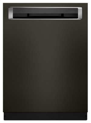 46 DBA Dishwasher with Third Level Rack and PrintShield Finish, Pocket Handle - Black Stainless Product Image