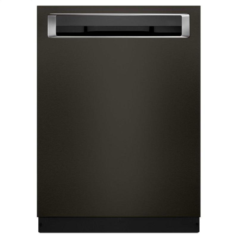 46 DBA Dishwasher with Third Level Rack and PrintShield™ Finish, Pocket Handle - Black Stainless Steel with PrintShield™ Finish