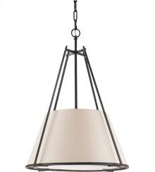 Visual Comfort S5033BR-NP Ian K. Fowler Aspen 1 Light 21 inch Hand Painted Blackened Rust Hanging Shade Ceiling Light