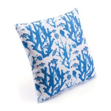 Blue Reef Pillow Blue & White Product Image
