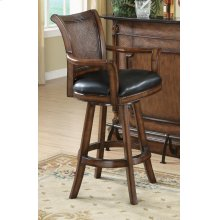 Traditional Ornate Brown Bar Stool